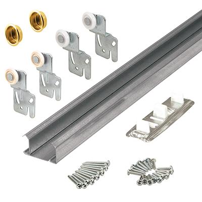 """Picture of 161792 - Bi-Pass 2-Door Track Kit, 60"""" Opening, Galvanized Steel"""