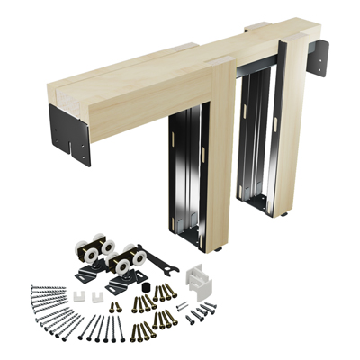 Picture of 164553 - Pocket Door Kit, 36 inch opening, Steel Reinforced Wood Framing, 1 kit per carton