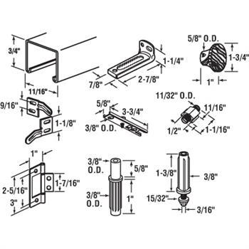164684 Bi Fold Door Track Kit 24 Inches 2 Door Design