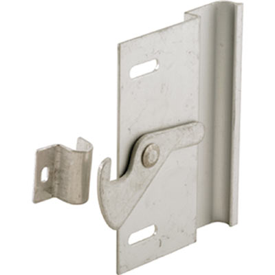 Picture of A 100 - Left Handed screen door  handle & latch w/ keeper, anodized aluminum, 1 per pkg.
