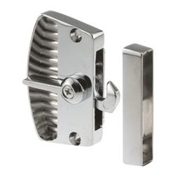 """Picture of A 105 - Deluxe Latch & Pull, 2-3/8"""", Diecast, Chrome, Non-Handed"""