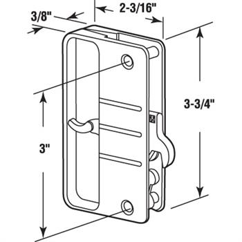 A 108 Sliding Screen Door Handle Amp Latch With Night Lock