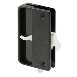 "Picture of A 108 - Latch & Pull w/Security Lock, 3"" H.C., Plastic, Black"
