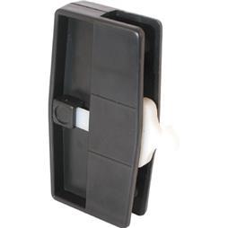 Picture of A 109 - Sliding screen door handle & latch, Black plastic, nite lock, steel latch, 1 per pkg.
