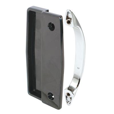 Picture of A 112 - Sliding screen door black inside handle, chrome diecast outside handle, 1 per pkg.
