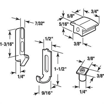 A 236 Sliding Screen Door Keeper Guide Amp Adjustment