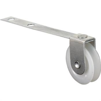 Picture of B 523 - Screen door roller, 3-1/4 inch Flat Tension Spring,  high density polyethlene roller, 2 per pkg.