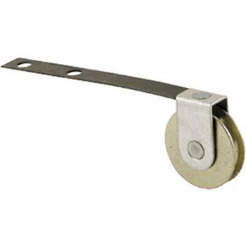 Picture of B 524 - Screen door roller, 3-1/4 inch Flat Tension Spring,  Steel roller, 2 per pkg.