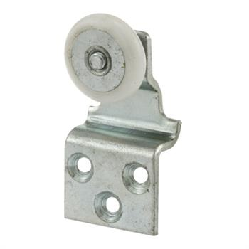 Picture of B 531 - Screen door top hung roller bracket with 7/8 inch oval high density polyethlene roller, 2 per pkg.