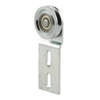 Picture of B 533 - Screen door top hung roller bracket with 11/16 inch grooved steel roller, 2 per pkg.