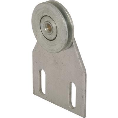 Picture of B 537 - Screen door top hung roller bracket with 1 inch grooved steel roller, 2 per pkg.