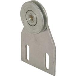 Picture of B 537 - Screen door top hung roller bracket with 1 inch grooved steel roller, 2 per pkg.