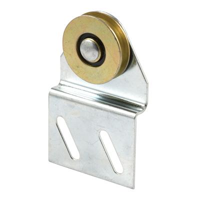Picture of B 539 - Sliding screen door top hung roller bracket, steel bracket, steel roller, 2 per pkg.