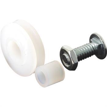 Picture of B 553 - Sliding screen door high density polyethlene roller,  Bolt, Nut & high density polyethlene Bushing, 2 per pkg.