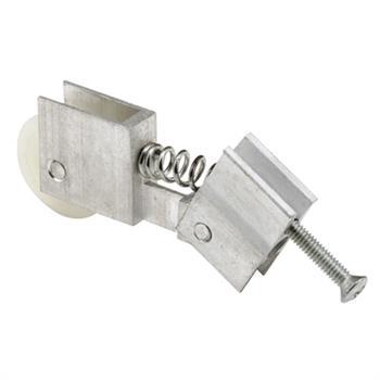 Picture of B 586 - Sliding screen door roller, extruded aluminum housing, high density polyethlene roller, 2 per pkg.