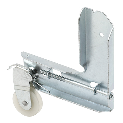 Picture of B 604 - Sliding screen door stamped  aluminum corner with high density polyethlene roller, 1 per pkg.