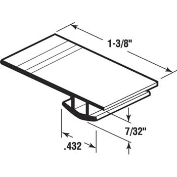 B 621 Sliding Screen Door Bug Seal Adjustable Width