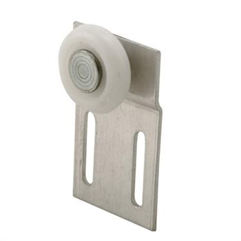 Picture of B 627 - Screen door top hung roller bracket with 3/4 inch oval high density polyethlene roller, 2 per pkg.