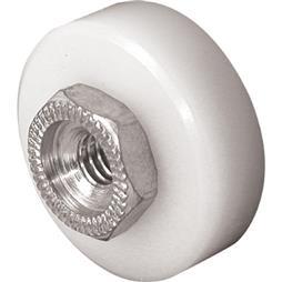 Picture of B 629 - Sliding screen door high density polyethlene ball bearing roller & threaded hex hub, 2 per pkg.