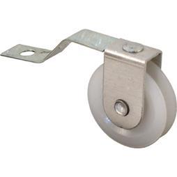 Picture of B 638 - Sliding screen door V shaped tension spring roller, 1 inch high density polyethlene roller, 2 per pkg.