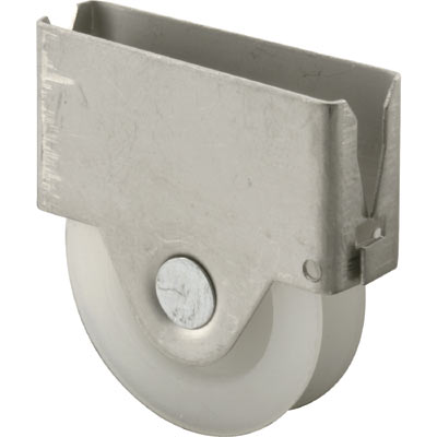 Picture of B 652 - Sliding screen door roller, steel housing, high density polyethlene roller, Fits Columbia, 2 per pkg.