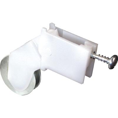 Picture of B 683 - Sliding screen door roller, high density polyethlene housing, Steel Ball Bearing roller, 2 per pkg.