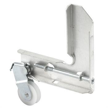 Picture of B 693 - Sliding screen door stamped  steel corner with high density polyethlene roller, 1 per pkg.