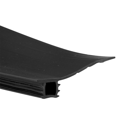 Picture of B 705 - Sliding screen door bug seal, Adjustable width, Press in fit, Black Vinyl, 1 per pkg.