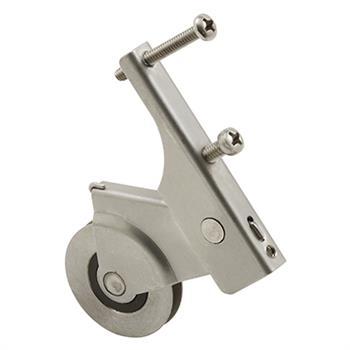 Picture of B 814 - Sliding screen door roller, Narrow body, Spring Loaded,  Stainless Steel, 2 per pkg.