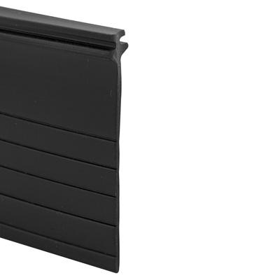 Picture of B 766 - Sliding screen door bug seal, Adjustable width, Press in fit, Black Vinyl, 1 per pkg.