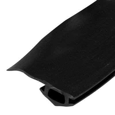 Picture of B 771 - Sliding screen door bug seal, Adjustable width, Press in fit, Black Vinyl, 1 per pkg.