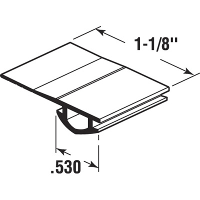 Picture of PL 16173 - Prime-Line Vinyl Bug Seal for Screen Doors, Black, 100 foot roll