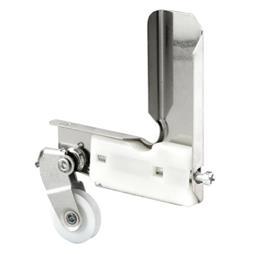 Picture of B 773 - Sliding screen door stamped  aluminum corner with high density polyethlene roller, 1 per pkg.