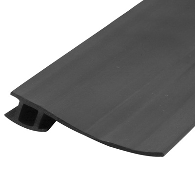 Picture of B 791 - Sliding screen door bug seal, Adjustable width, Press in fit, Black Vinyl, 1 per pkg.