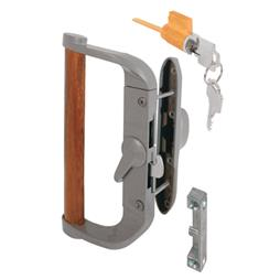 Picture of C 1017 - Patio Door Surface with Hook  Latch, Diecast body, Wood Handle, Keeper, 1 per pkg.