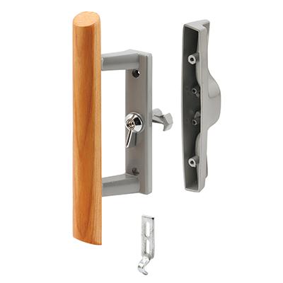 Picture of C 1018 - Patio Door Internal style door  handle, Gray, 3-15/16 inch hole centers, 1 per pkg.