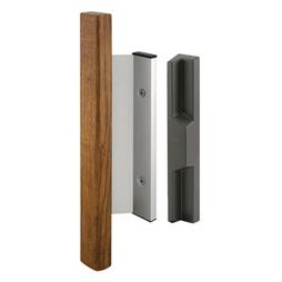 Picture of C 1019 - Patio Door Mortise Style Handle,  Aluminum with wood Inside, Diecast Outside, 1 per pkg.