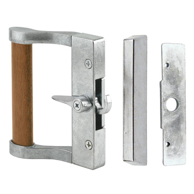 Picture of C 1023 - Patio Door Surface with Hook  Latch, Diecast Body, Wood Handle, 1 per pkg.