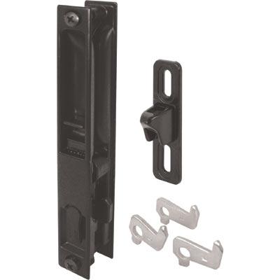 Picture of C 1043 - Patio Door Flush Handle with Latch assortment, Black, Night Lock, 1 per pkg.