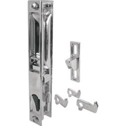 Picture of C 1045 - Patio Door Flush Handle with Hook Latch assortment, Chrome, Night Lock, 1 per pkg.