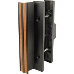 Picture of C 1058 - Patio Door Mortise Style Handle,  Black Extruded inside, Diecast Outside, 1 per pkg.
