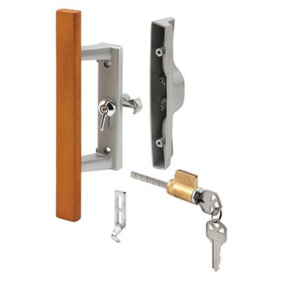 Picture of C 1064 - Patio Door Internal style door  handle, Gray, 3-15/16 inch hole centers, 1 per pkg.