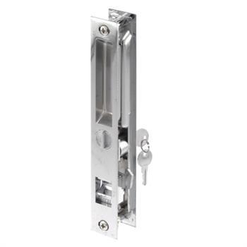 C 1076 Patio Door Flush Handle With Hook Latch Assortment Chrome Keyed 1 Per Pkg