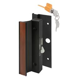 Picture of C 1094 - Patio Door Surface with Hook  Latch, Extruded, Black Finish, Keyed, 1 per pkg.