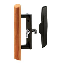 "Picture of C 1095 - Handle Set, 3-1/2"", Diecast/Wood, Black Base"
