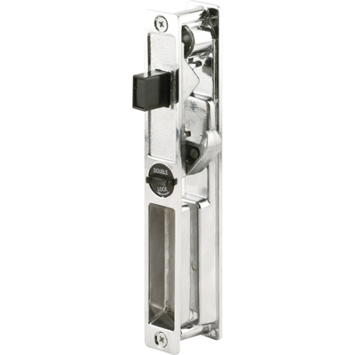 Picture of C 1099 - Patio Door Flush Handle , Crossly Doors, Chrome, Non-Keyed, 1 per pkg.