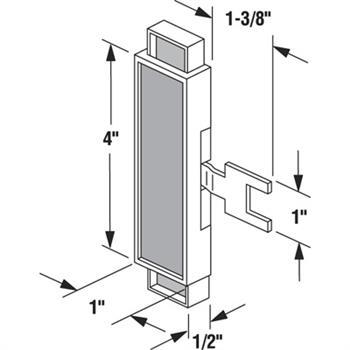 C 1109 Slide Latch For C 1028 Black Plastic Actuator Fork 1 Per Pkg