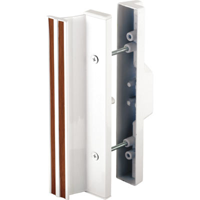 """Picture of C 1111 - Handle Set, 3-15/16"""" HC, Aluminum, White, Mortise Style"""