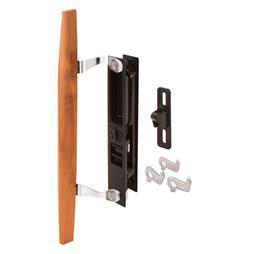 Picture of C 1124 - Patio Door Flush Handle, Wood Handle Pull & keeper, Mid-Body Latch, Black, 1 per pkg.