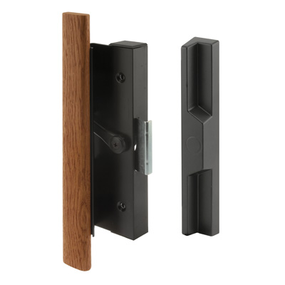 Picture of C 1126 - Patio Door Surface with Clamp, Black with Wood Handle, Outside handle, 1 per pkg.